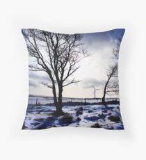 Winter snow Scottish landscape Throw Pillow