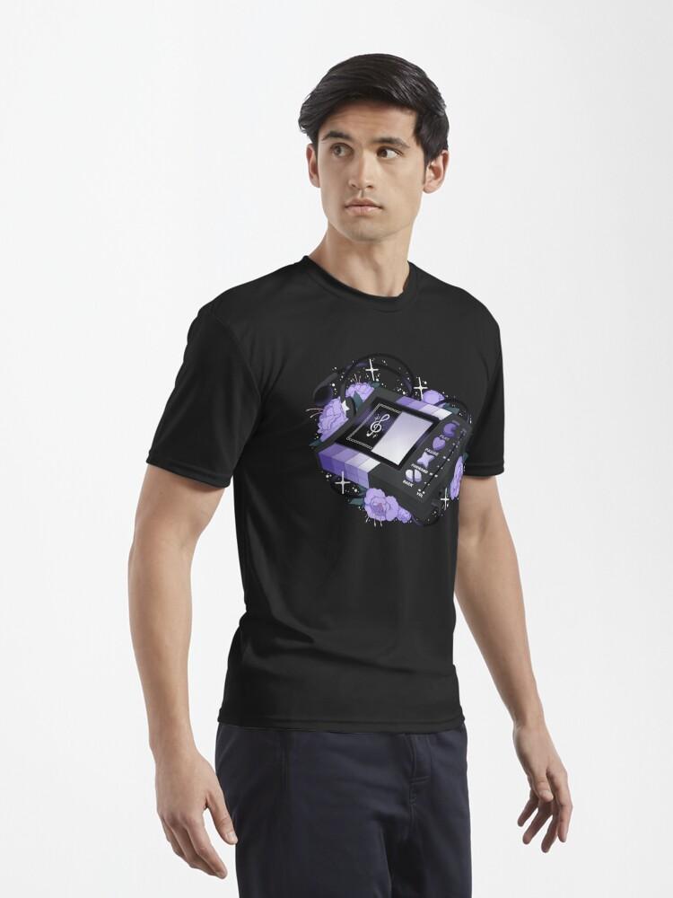 Alternate view of Flowery Walkman (Goth) Active T-Shirt