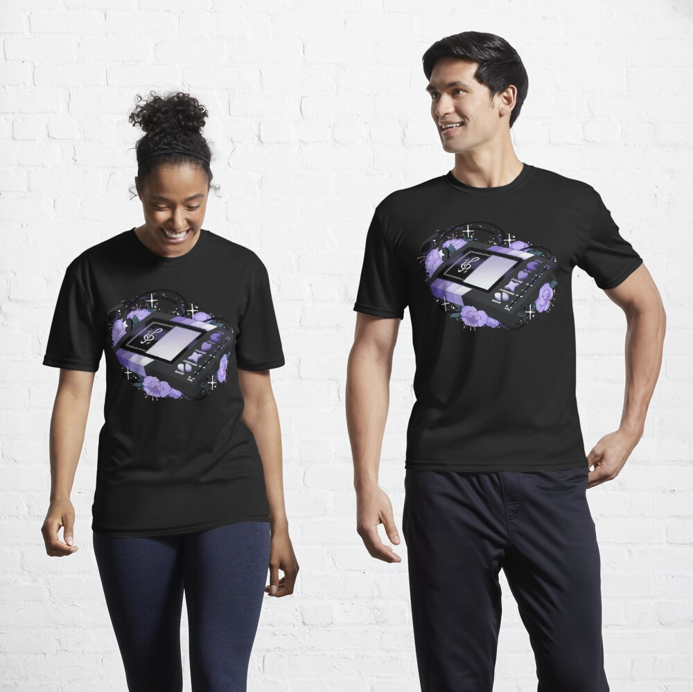 Flowery Walkman (Goth) Active T-Shirt