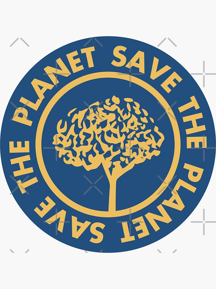 Save the planet hand drawn lettering on clean white background. Retro style calligraphy, motivational phrase for Earth day. For greeting card, logo, badge, print, poster, party designs. by Julli