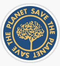 Speichern Sie die gezeichnete Beschriftung des Planeten Hand auf sauberem weißem Hintergrund. Retrostilkalligraphie, Motivphrase für Tag der Erde. Für Grußkarte, Logo, Abzeichen, Druck, Poster, Party-Designs. Sticker
