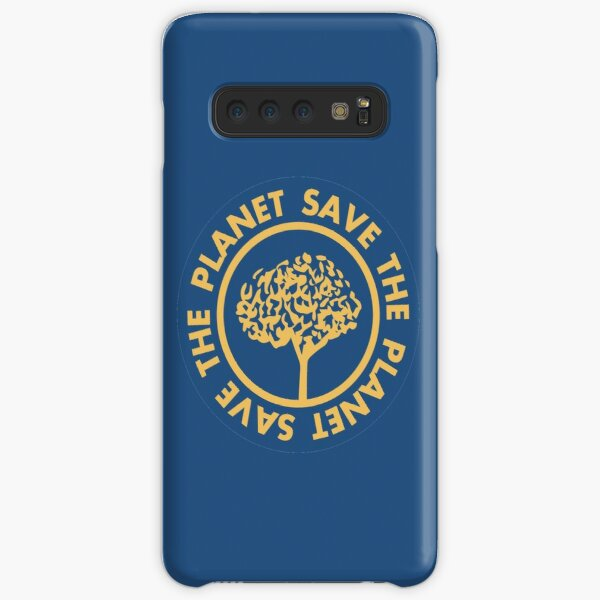 Save the planet hand drawn lettering on clean white background. Retro style calligraphy, motivational phrase for Earth day. For greeting card, logo, badge, print, poster, party designs. Samsung Galaxy Snap Case