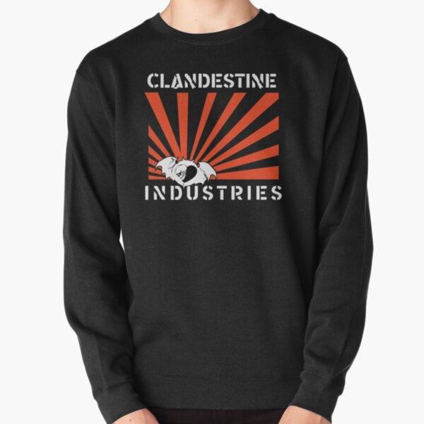 Clandestine Industries (White Text) Pullover Sweatshirt