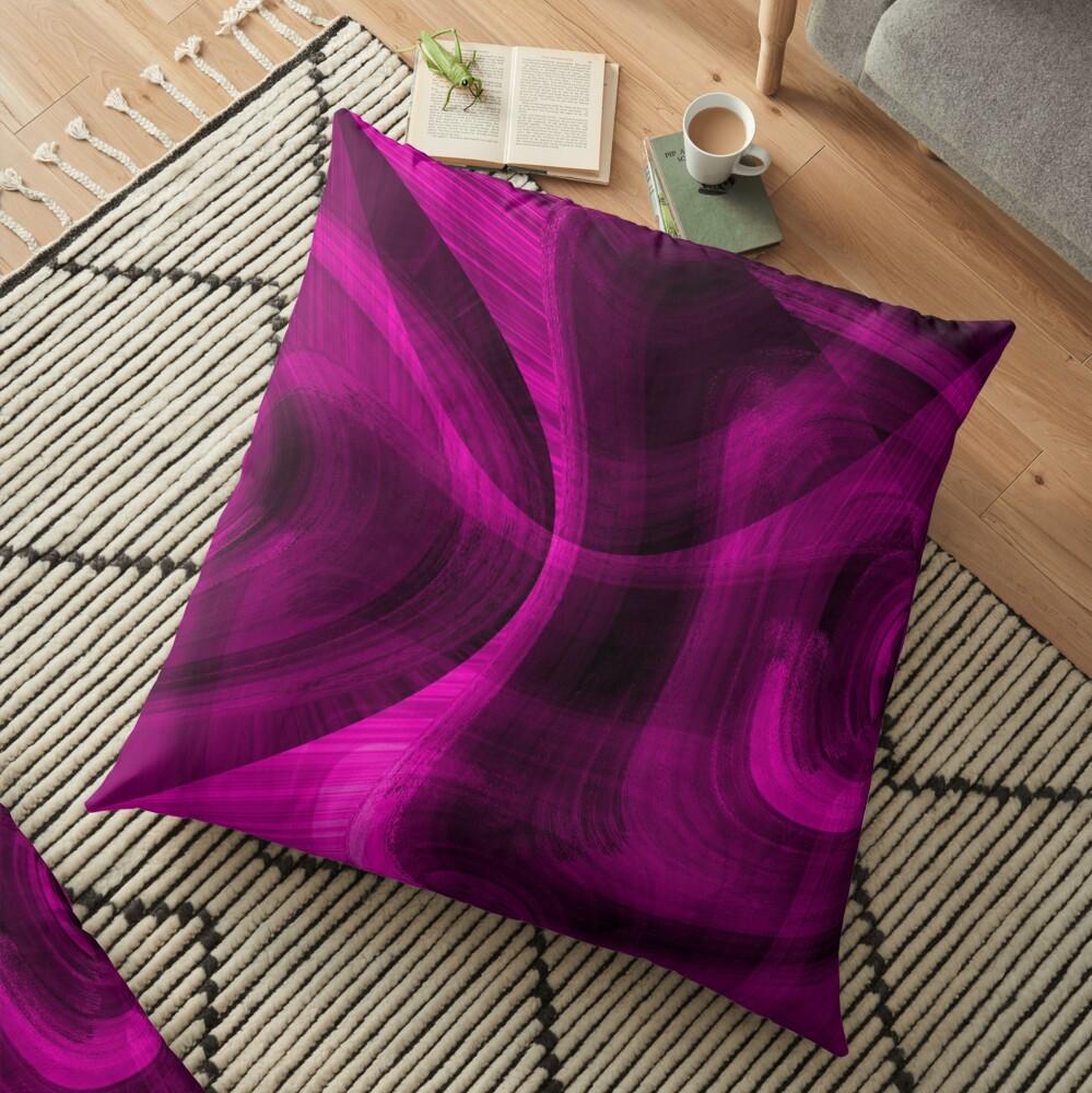 Pinkish Black Hole Floor Pillow