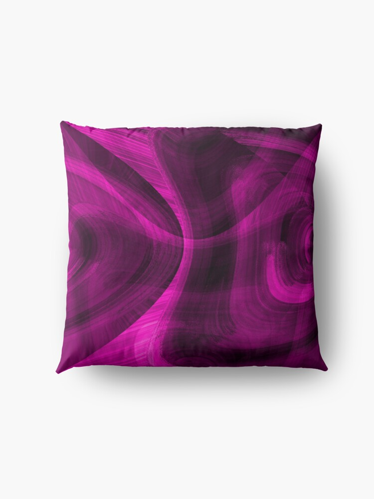 Alternate view of Pinkish Black Hole Floor Pillow