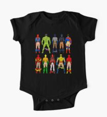 Superhero Butts One Piece - Short Sleeve