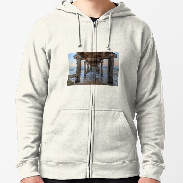 Point Lonsdale Pier, Victoria Zipped Hoodie