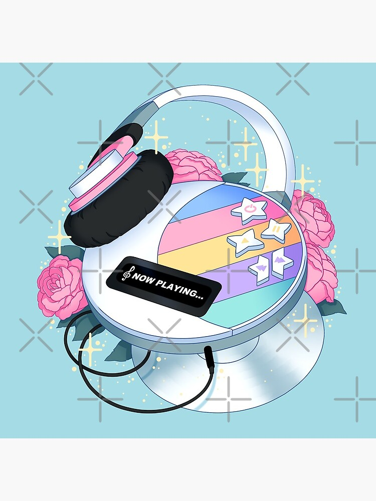 Flowery CD Player (Pastel) by Kaninchenbau