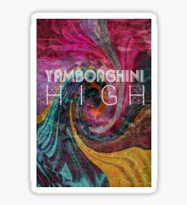 yamborghini high Sticker