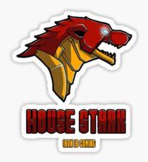 House Iron Stark Sigil and Motto Sticker