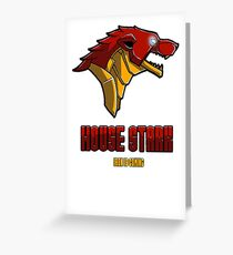 House Iron Stark Sigil and Motto Greeting Card