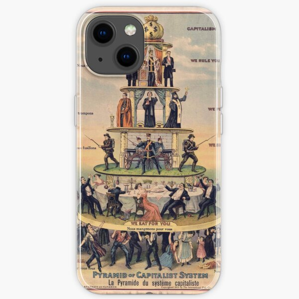 """Pyramid of Capitalist Systems"""" - Industrial Workers of the World, 1911, Anticapitalist Propaganda Poster iPhone Soft Case"""