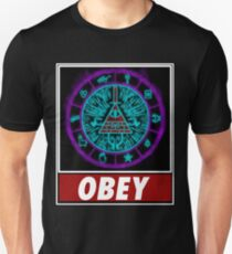 Gravity Falls- bill cipher wheel Obey T-Shirt