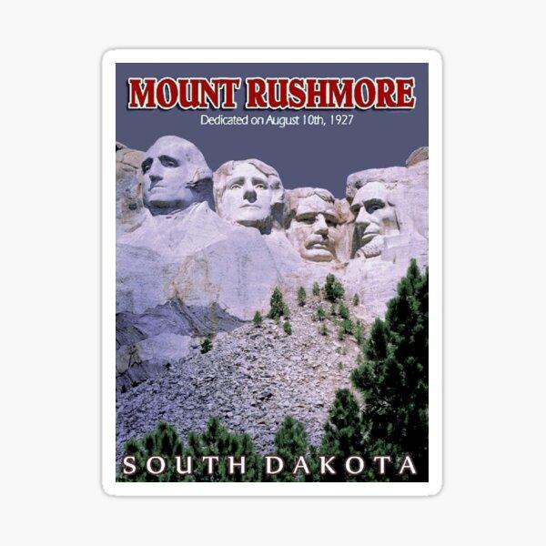MOUNT RUSHMORE; Presidents Sculpture Vintage Print Sticker