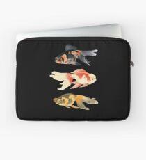 Botanical Fish Trio on Black Laptop Sleeve