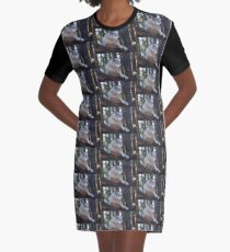 Timber Wolf Sentinel Graphic T-Shirt Dress