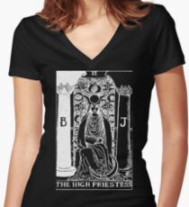 The High Priestess Women's Fitted V-Neck T-Shirt