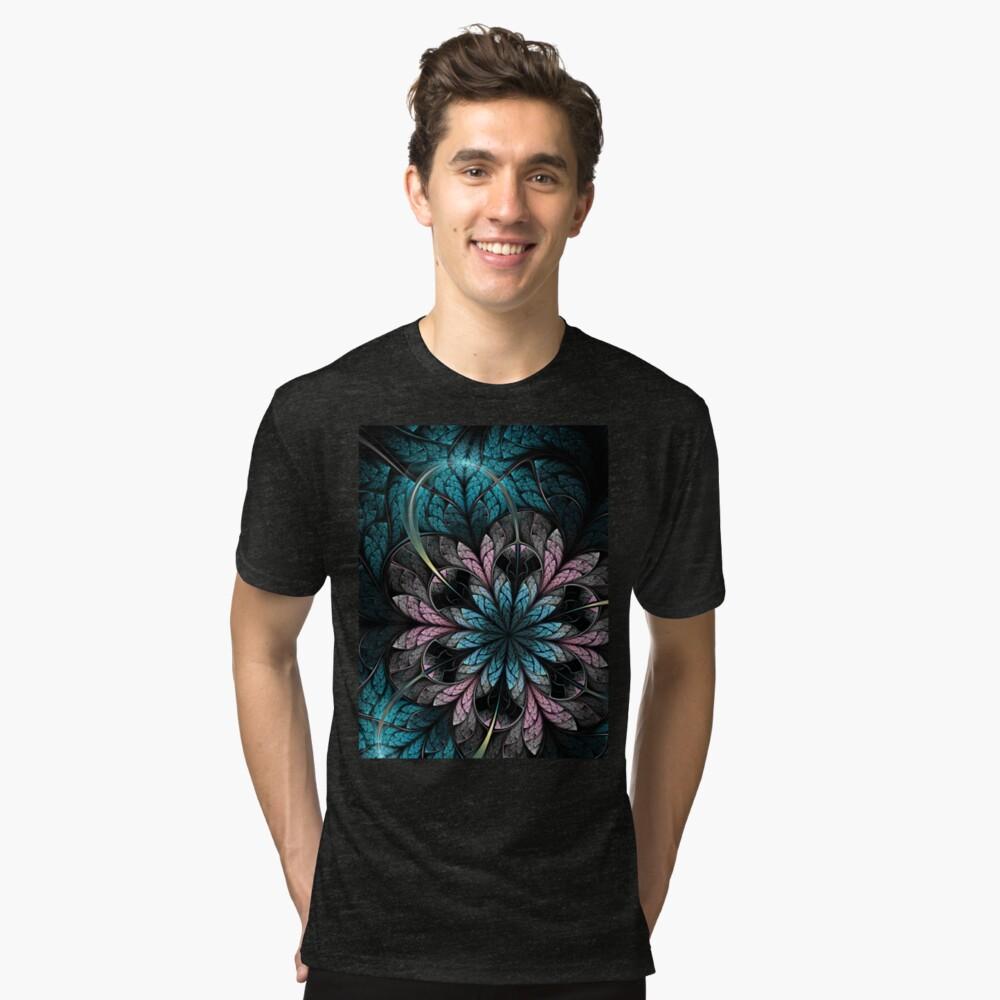 Flower III - Abstract Fractal Artwork Tri-blend T-Shirt Front