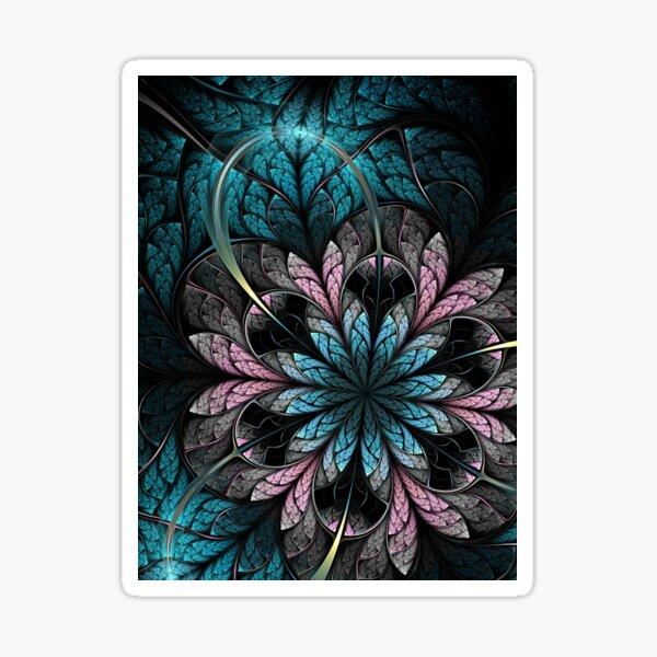 Flower III - Abstract Fractal Artwork Sticker