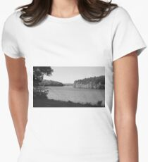 Black and White at the Lake Women's Fitted T-Shirt