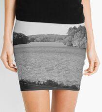 Black and White at the Lake Mini Skirt