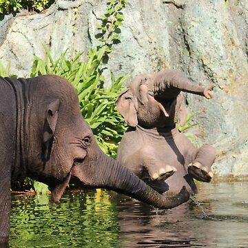Jungle Elephants by natfish