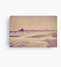 Folly Beach at Dusk: Charleston, SC Canvas Print