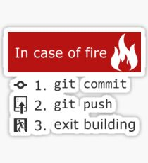 Git on Fire Sticker