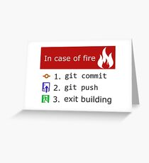 Git on Fire Greeting Card