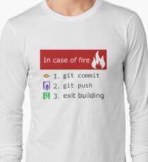 Camiseta de manga larga Git on Fire