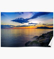 Orme Sunset Poster