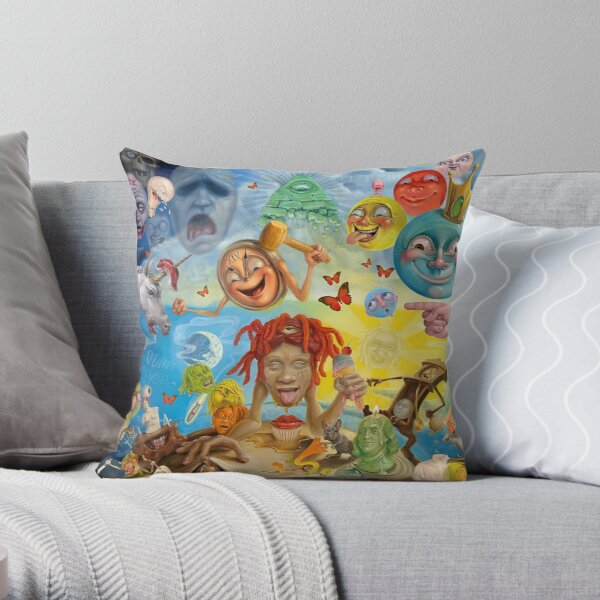new abstrac eat Throw Pillow