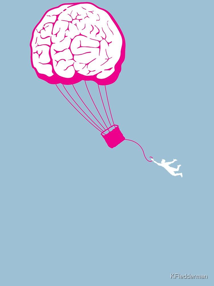Brain Balloon - blue skies by KFledderman