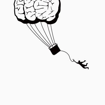 Brain Balloon - black detail by KFledderman