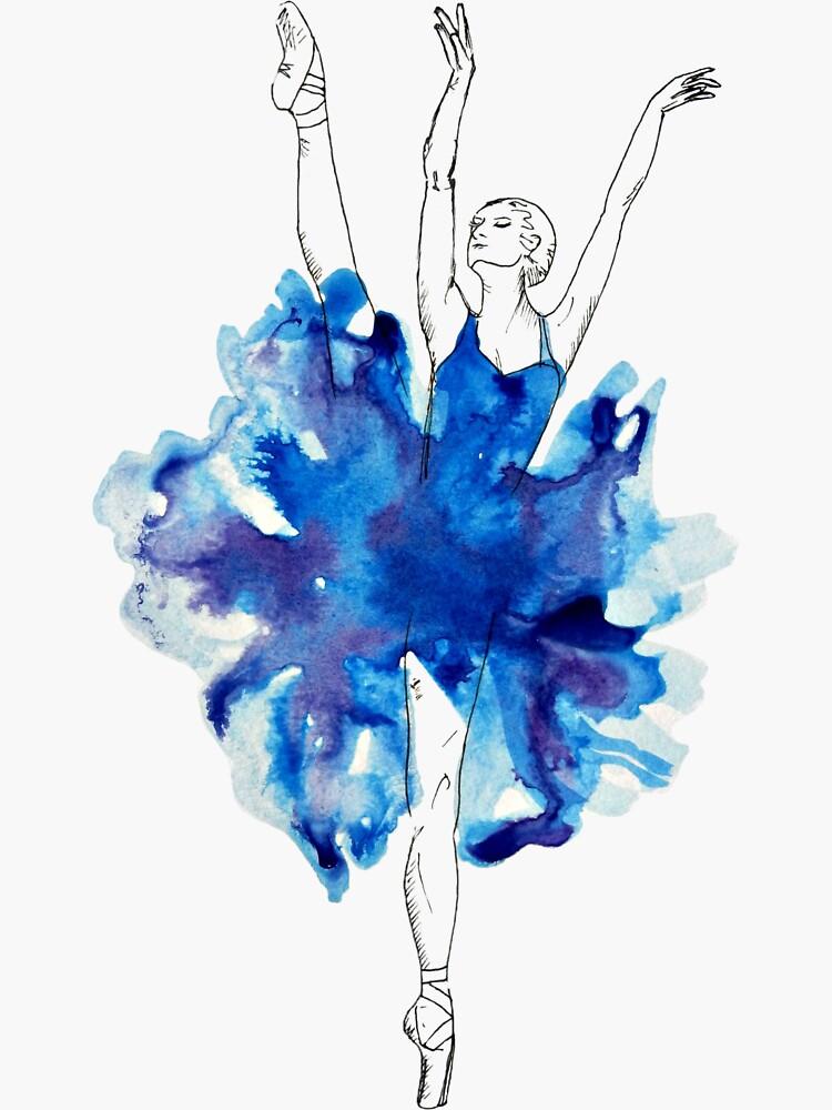 Watercolour Ballerina by galacticthought