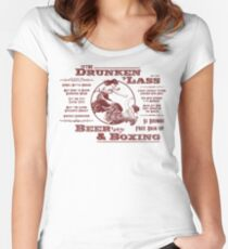 Drunkin Lass - red type Women's Fitted Scoop T-Shirt