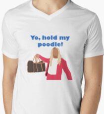 Yo, hold my poodle Men's V-Neck T-Shirt