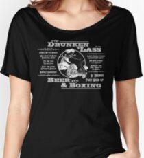 Drunkin Lass - white type Women's Relaxed Fit T-Shirt