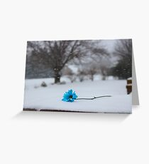 Bitter Blue Greeting Card