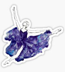 Aquarell Ballerina Sticker