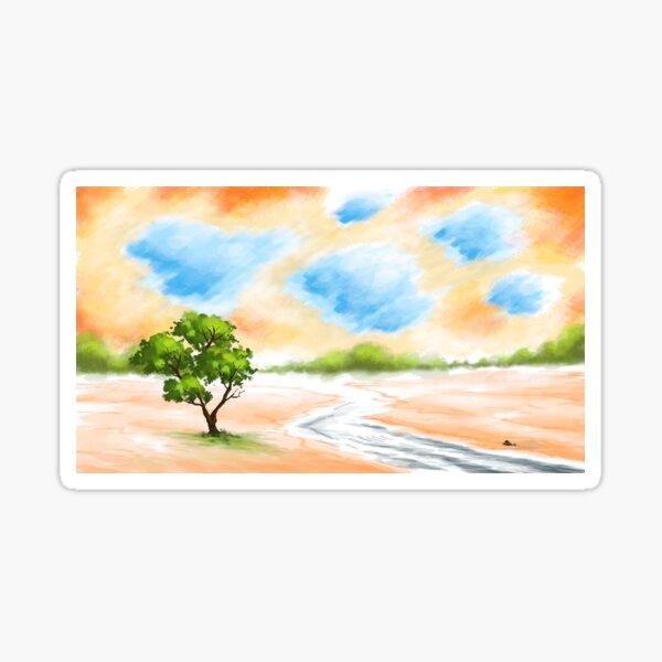 Riverside Landscape Sticker