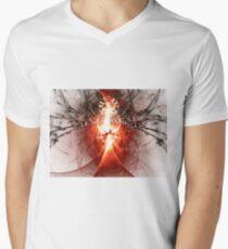 Black Widow - Abstract Fractal Artwork Mens V-Neck T-Shirt