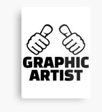 Graphic artist Metal Print