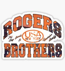 usa new york rust by rogers bros Sticker
