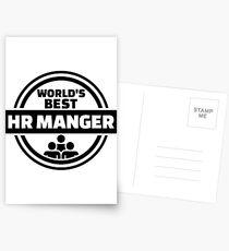 World's best HR Manager Postcards