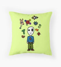Stuff in the head Throw Pillow