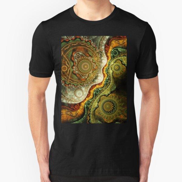 Autumn - Abstract Fractal Artwork Slim Fit T-Shirt
