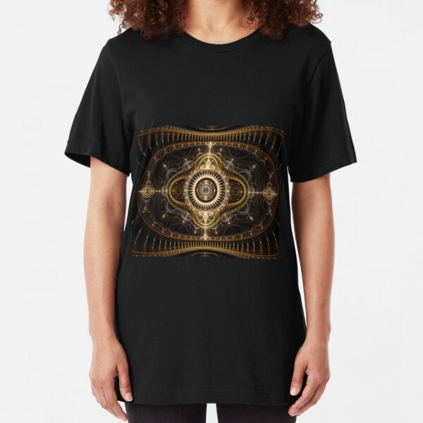 All Seeing Eye - Abstract Fractal Artwork Slim Fit T-Shirt