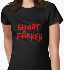 Shoot Farken Red Women's Fitted T-Shirt