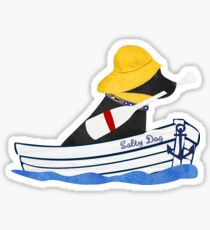 Nautical Preppy Black Lab Aboard The Salty Dog Sticker